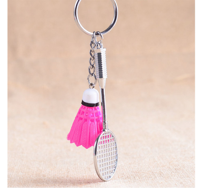 Keychain racket and color shuttlecock