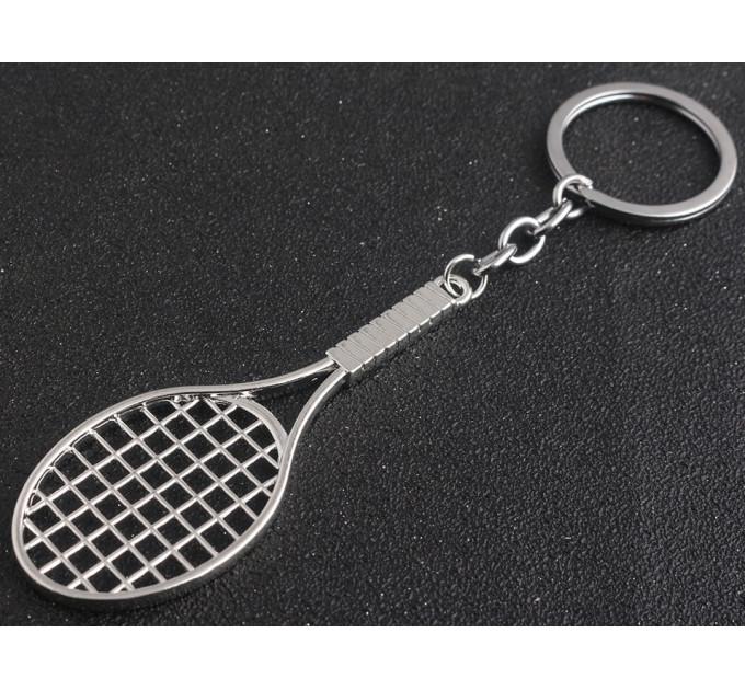 Keychain tennis racket