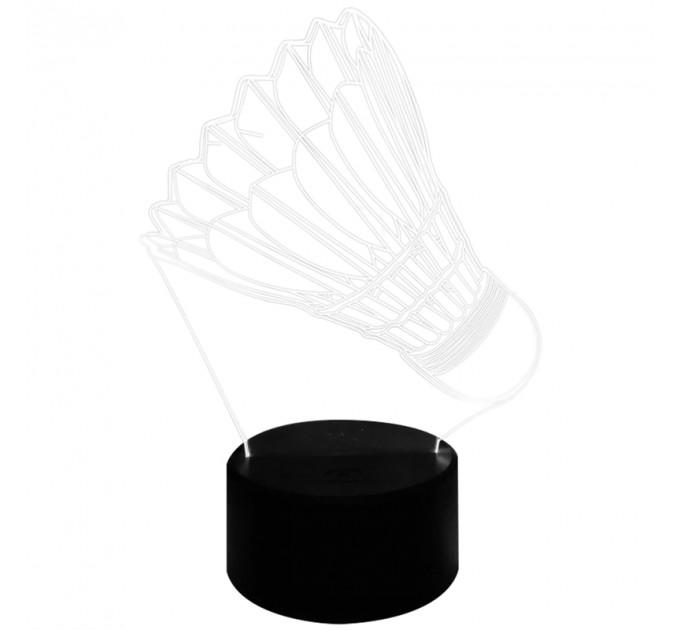 3D LED shuttlecock