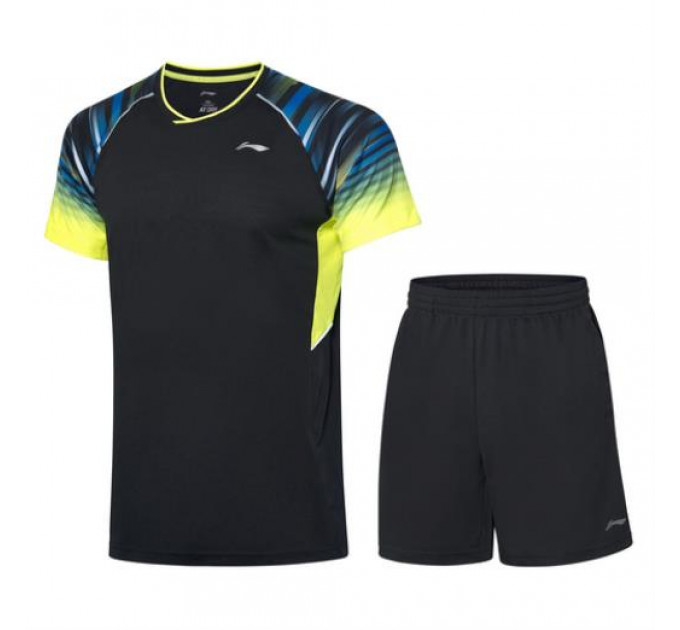 Set male Li-ning Black / green