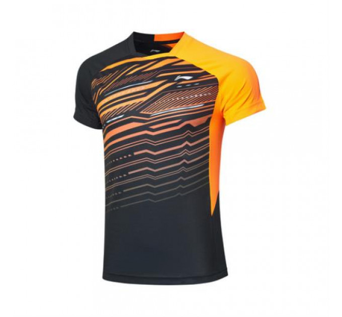T-shirt mens jersey Li-ning Black / orange