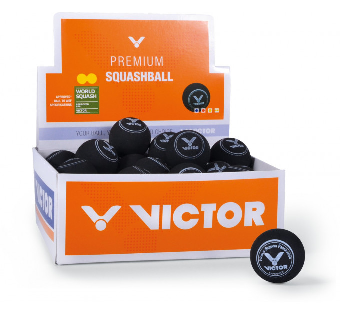VICTOR Squash ball double-yellow